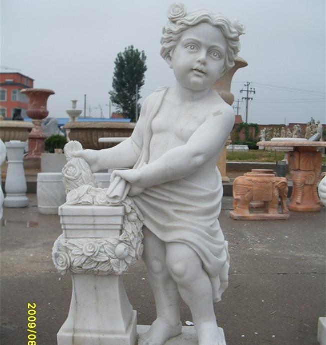 精品推荐石雕西方人物雕塑 石刻小天使美人鱼 批发石刻摆件