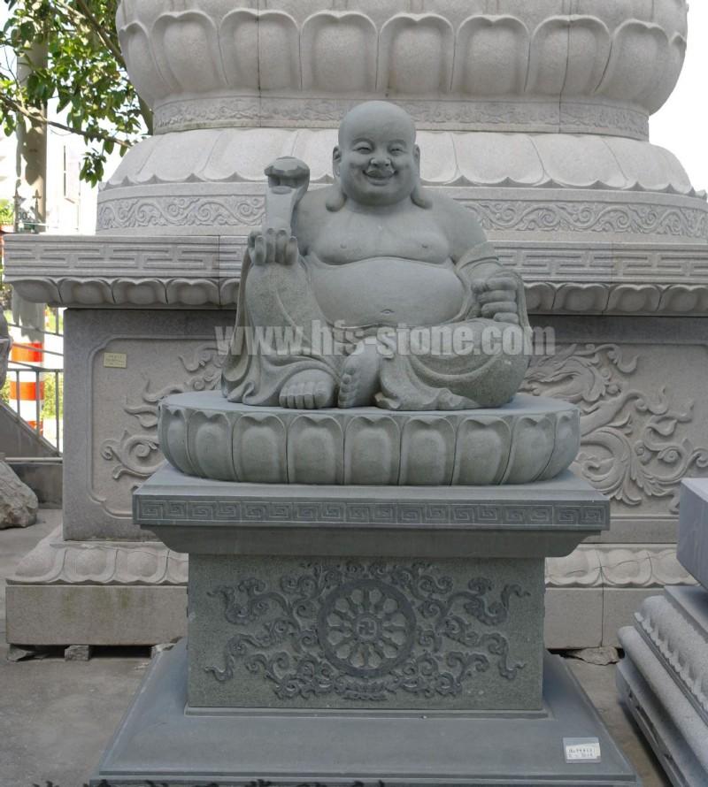 石雕弥勒佛,坐布袋石雕,笑佛石雕像