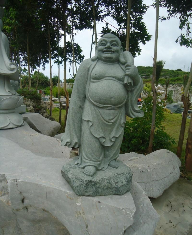 石雕弥勒佛加工 优质天然石材料工艺品  花岗岩佛像雕塑