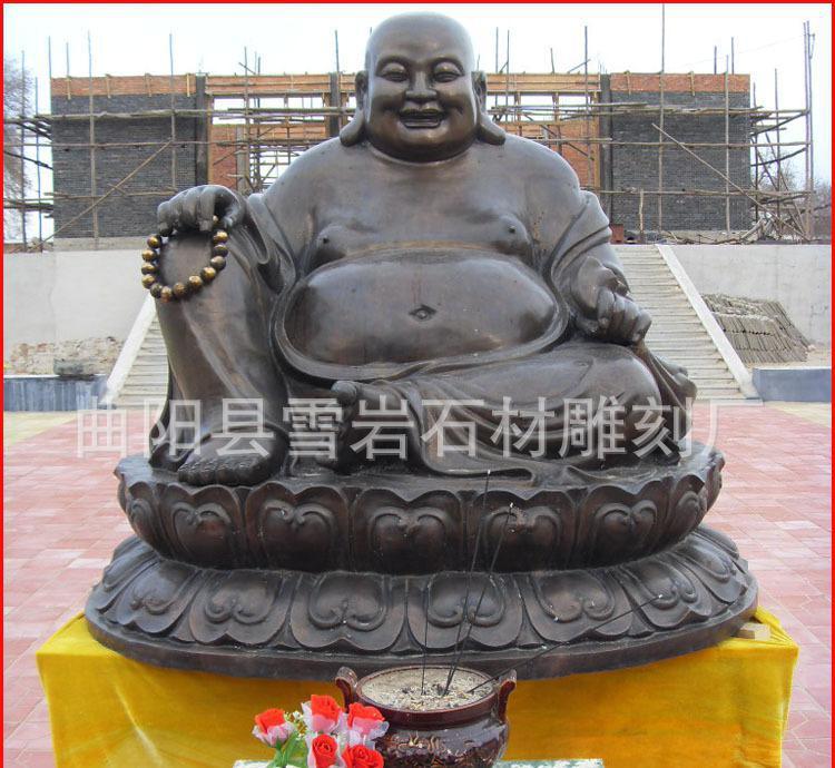 厂家直销佛像人物雕塑 佛像观音石雕 弥勒佛 定做各种铸铜雕塑