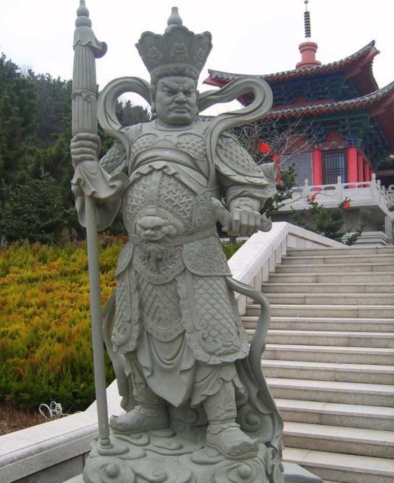 【国鼎雕塑】古人物石雕 四大天王形象雕塑 厂家加工定制