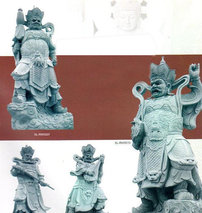 专业古代神像四大天王石雕 镇宅辟邪石雕四大天王FX