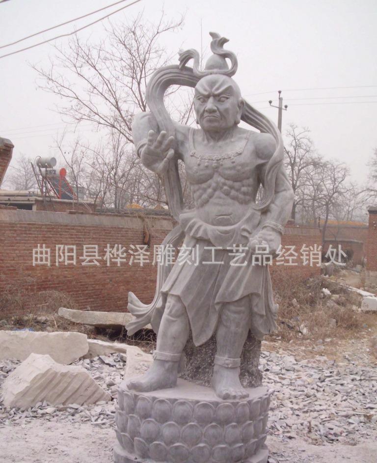 曲阳石雕四大天王雕塑 庙宇雕刻 四大金刚雕塑 厂家直销