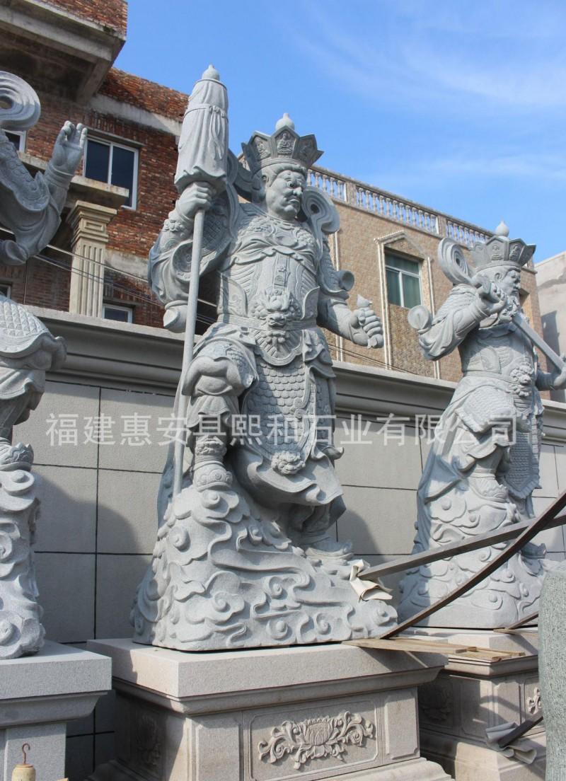 佛像雕塑 专业生产 四大天王石雕 形态逼真 质优价廉 包邮