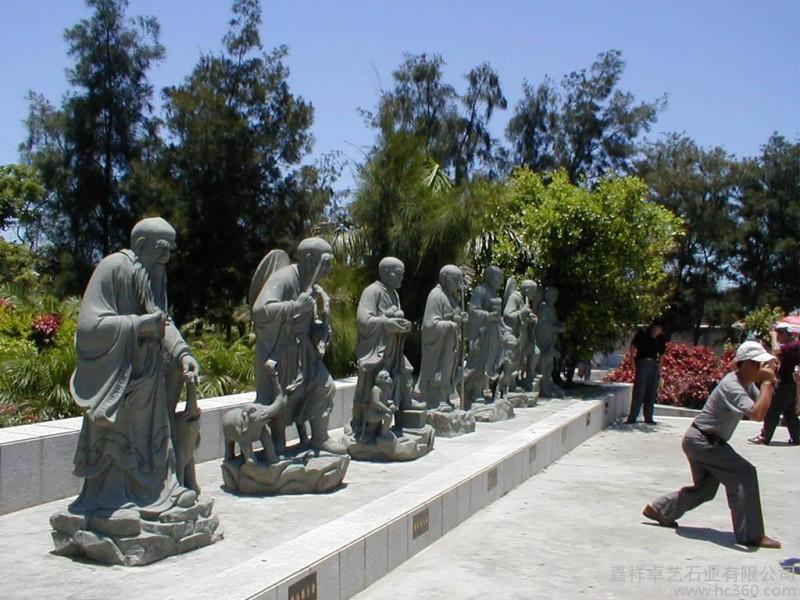 供应嘉祥卓艺三十六罗汉、四大天王、观音像佛像雕塑