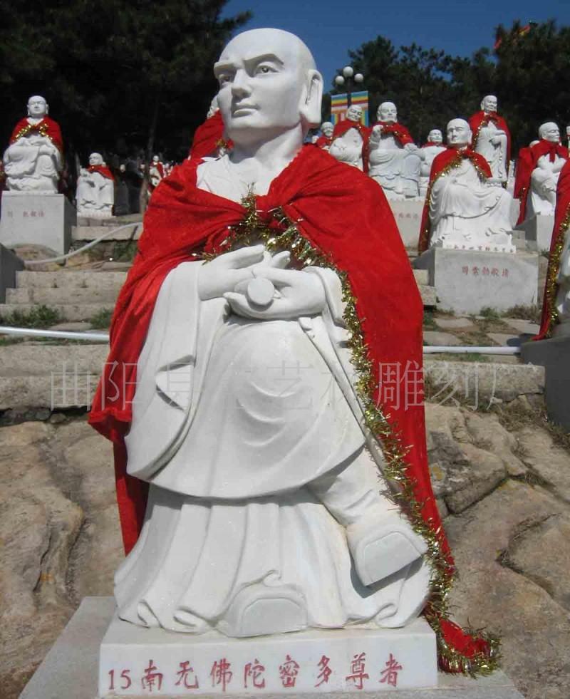 五百罗汉雕塑十六之十八罗汉石雕