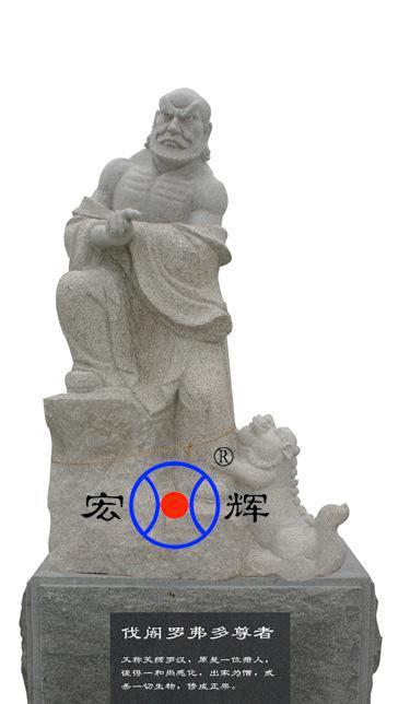专业石雕厂十八罗汉像 五百罗汉像雕刻 花岗岩十八罗汉石雕