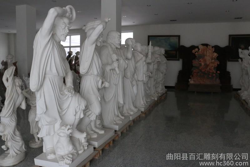 供应石雕佛像 神像 汉白玉十八罗汉