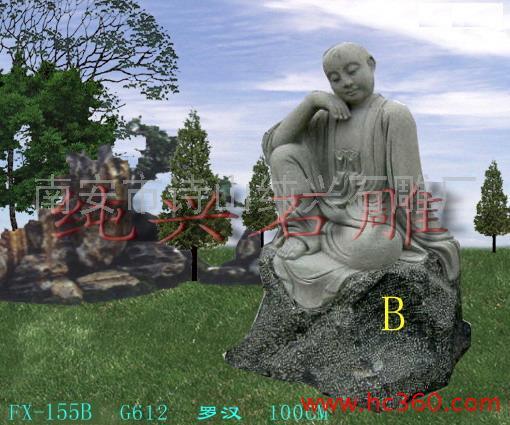 供应佛像雕刻-园林装饰雕塑 佛教工艺品 石雕佛像 十八罗汉