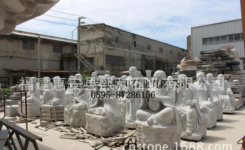 1.5米福建惠安仿唐代石雕罗汉 唐朝罗汉石雕工艺品精美雕工艺