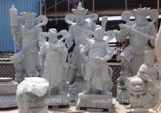 石雕关公韦陀,佛像