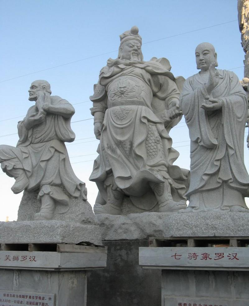 石雕关公财神500罗汉送子观音妈祖佛像壁画浮雕观音菩萨释迦摩