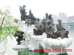 供应石雕关公,鲁班石雕寿星财神,八仙梁山好汉福禄寿等人物作品雕塑