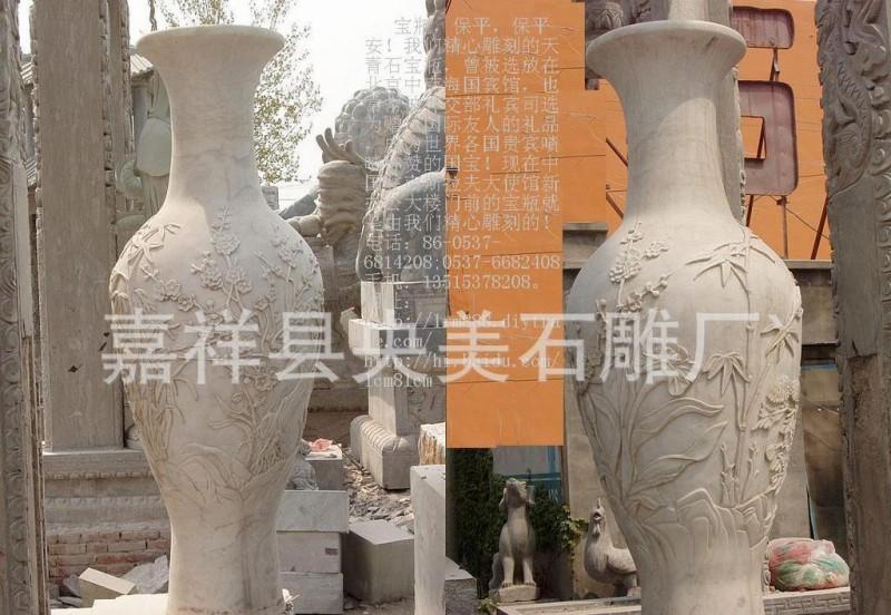 石雕吉祥宝瓶如意宝瓶石雕龙凤花瓶宝鼎石雕宝瓶香炉石鼎礼器花钵