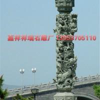 嘉祥祥瑞石雕厂供应价格实惠石雕龙柱 广场石雕文化主 石材龙柱