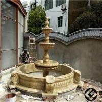 石雕喷泉庭院水景石雕流水水钵装饰
