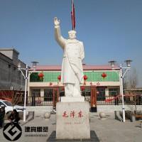 汉白玉毛主席石雕像石雕伟人名人雕像加工厂家