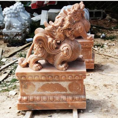 镇宅风水神兽貔貅雕塑大理石石头貔