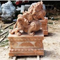镇宅风水神兽貔貅雕塑大理石石头貔貅石雕