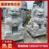 惠安石狮子现货 石雕狮子工艺品 汉白玉石狮子