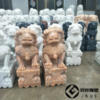 汉白玉石狮子石雕门口镇宅狮子石雕厂家及图片