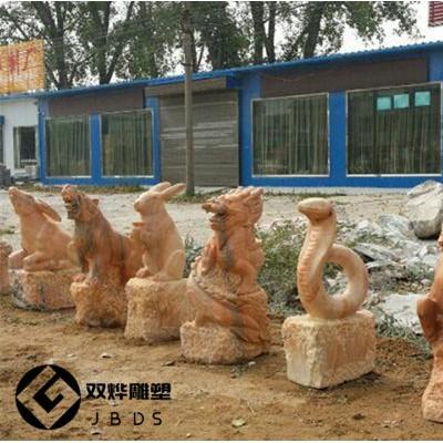 石雕十二生肖雕塑厂家直销12生肖石