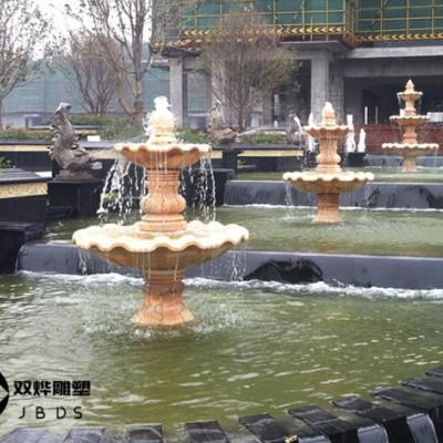 石材水钵石雕喷泉水池造景水景雕塑