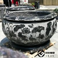庭院石头大缸摆件圆形石缸花盆石雕