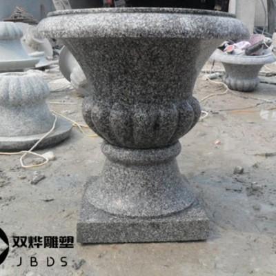 公园花钵花盆石雕厂家报价及图片