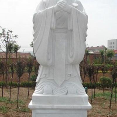 孔子标准石像校园汉白玉孔子石雕像