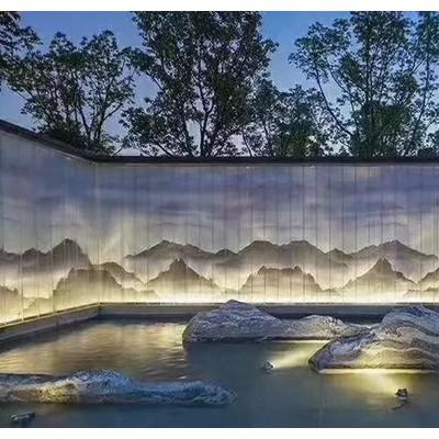 雪浪石假山片别墅庭院造景装饰泰山