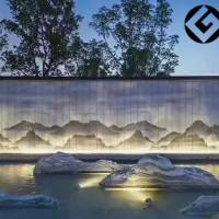 雪浪石假山片别墅庭院造景装饰泰山石片组合厂家