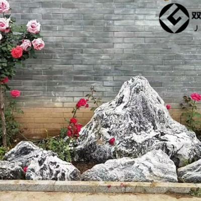 泰山石切片石组合定制小型假山石造