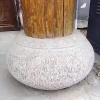 古建筑园林柱顶石厂家供应,手工雕花柱础石