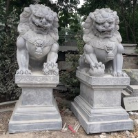 青石石雕狮子,厂家石雕动物可定制加工